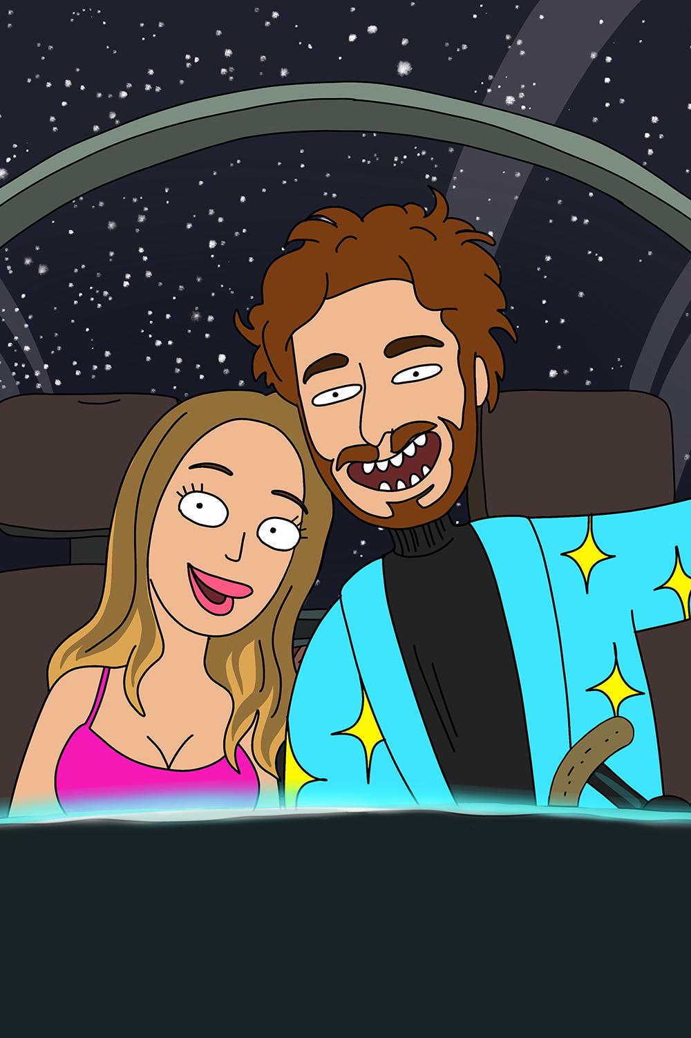 Rick and Morty custom portrait